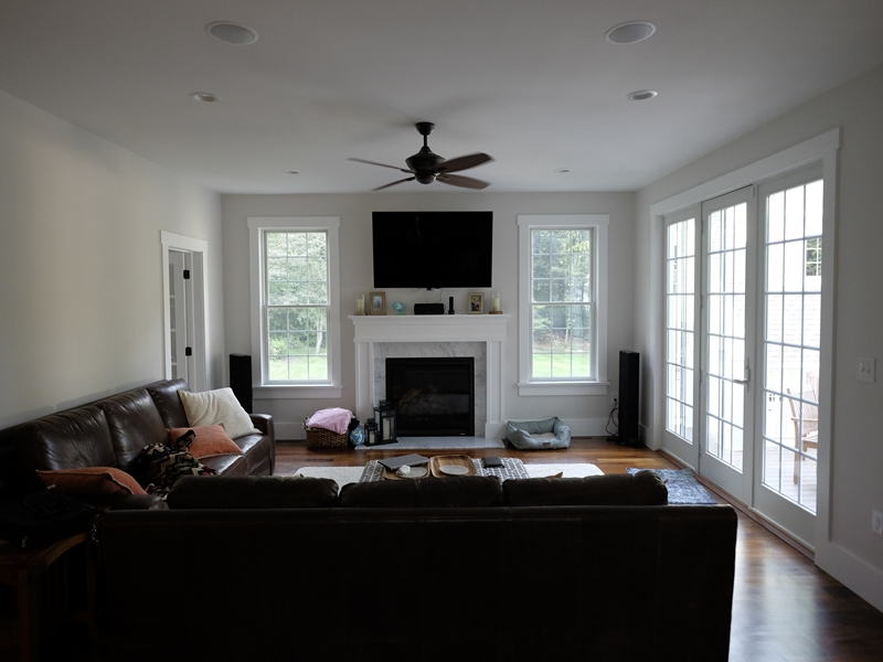 Living Area | New Home Construction | Top Notch General Contracting